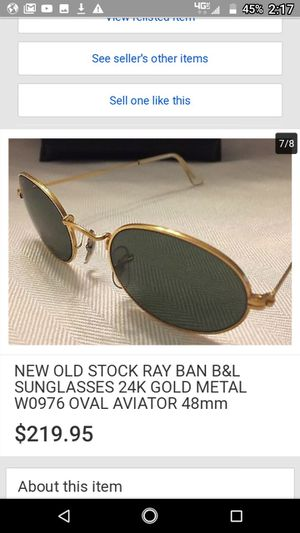 Used, Vintage Ray-Bans B & L made in USA 24 karat gold frame for sale  Gravette, AR