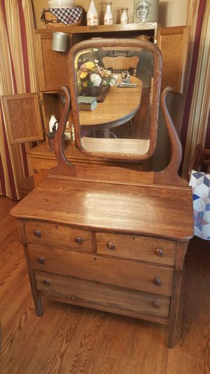 Antique oak dresser with swivel mirror for Sale in Martinsburg, WV