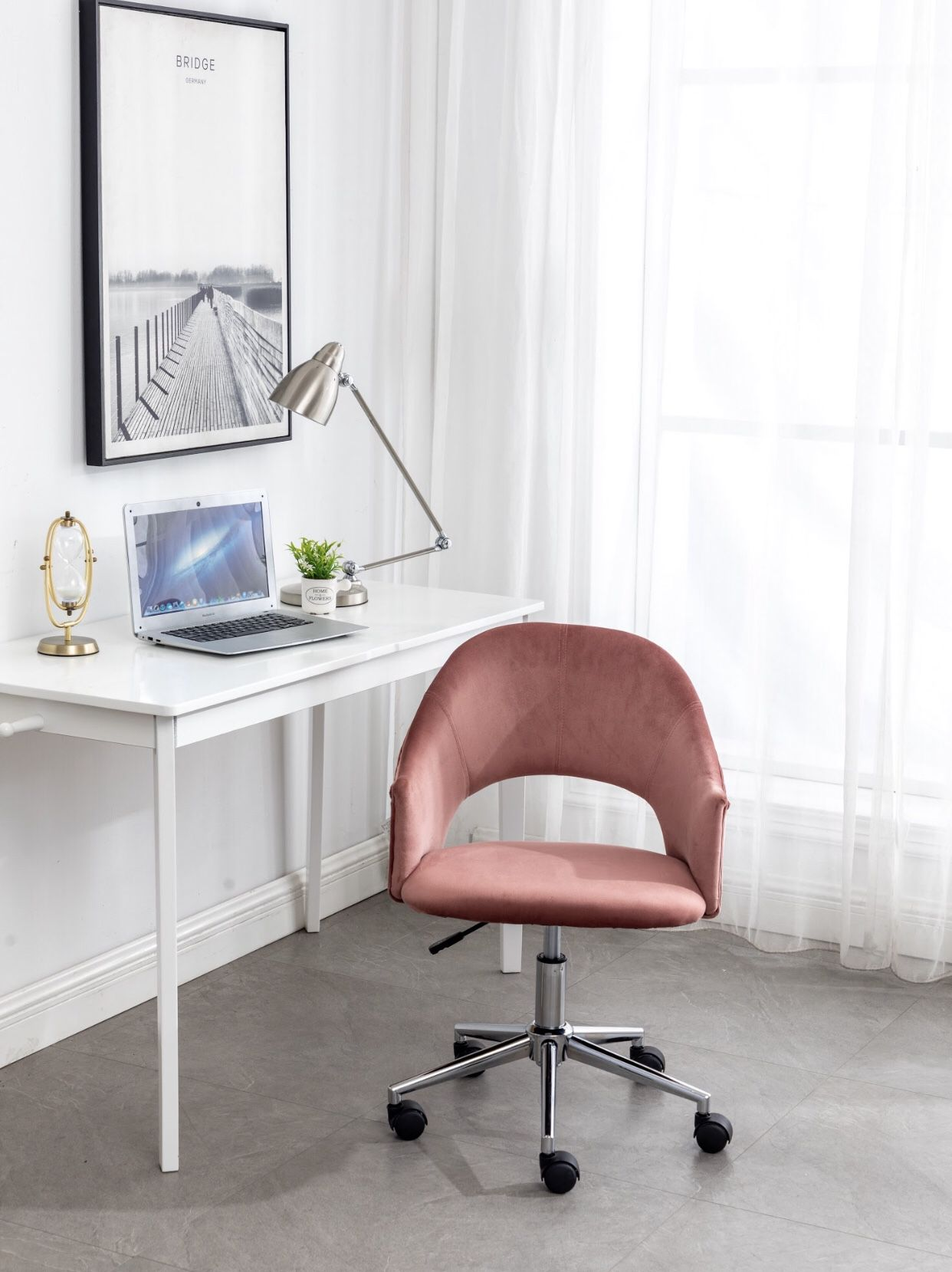 Rose gold velvet vanity chair office chair desk chair pink vanity chair velvet chairs BRAND NEW IN BOX