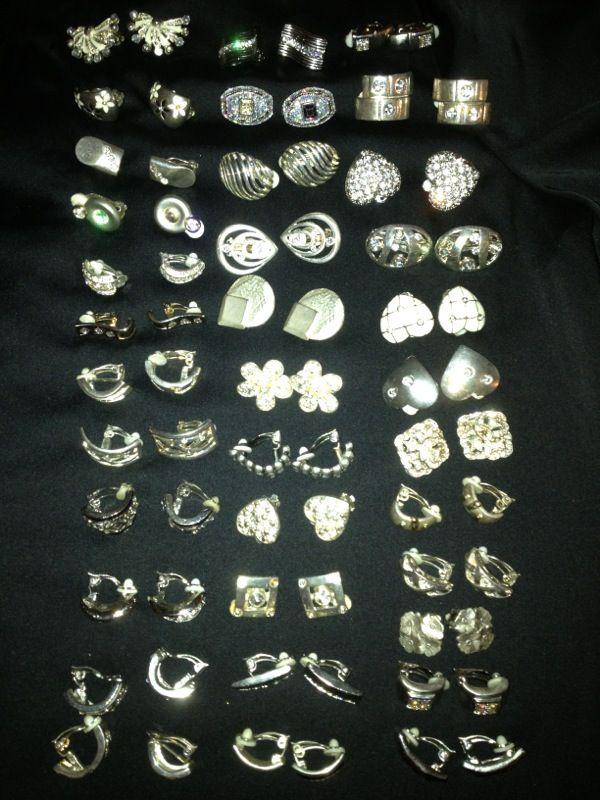 35 Pair of Clip of Earrings