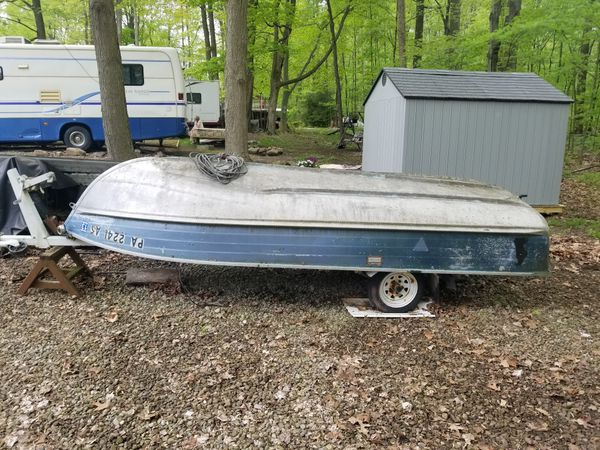 14' blue fin aluminum boat, motor and accessories for Sale in Clarks Mills,  PA - OfferUp