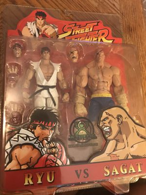 Street fighter action figure ryu sagat Vega vintage rare collectible for Sale in Miami, FL