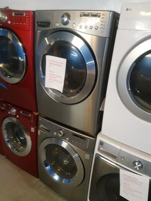 Photo LG FRONT LOAD WASHER AND DRYER SET WORKING PERFECTLY 4 MONTHS WARRANTY DELIVERY AVAILABLE SAME DAY