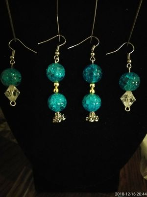 2 pair matching turquoise earrings for Sale in Porterville, CA