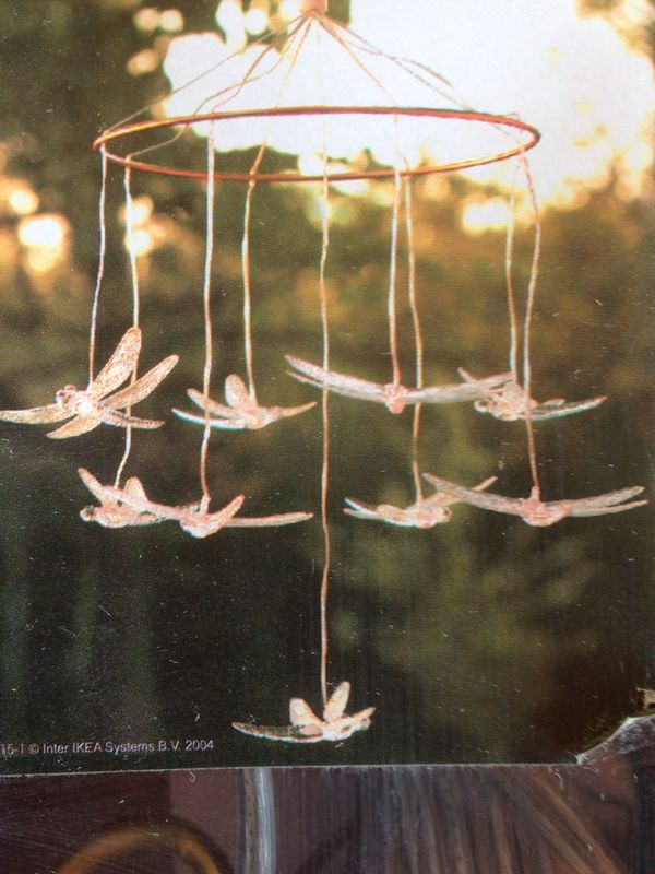 Two Ikea Skina Dragonfly Chandeliers For Inside Or Outside Discontinued