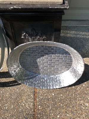 Large bucket basket metal woven look for Sale in Pacific, WA