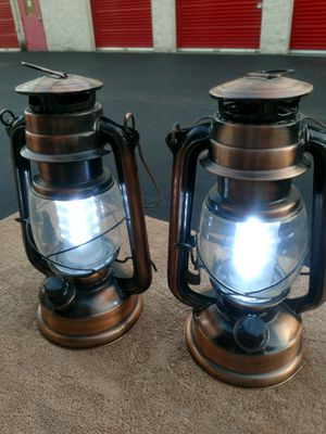 Lanterns Metal battery operated for Sale in Manassas, VA