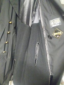 United States Naval Academy Trench coat size large - xl Thumbnail
