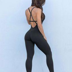 Bombshell Sportswear Black Bodysuit (Small) Thumbnail