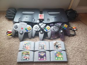 2 Nintendo 65 with super mario 64 for Sale in Washington, DC