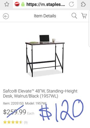 New in box $260 Safco standing desk for $120 w/ small blemish for Sale in Fairfax, VA