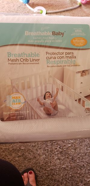 Mesh crib liner for Sale in Sacramento, CA
