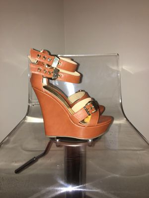 Thalia Sodi cognac wedges! Brand New in Box! for Sale in Atlanta, GA