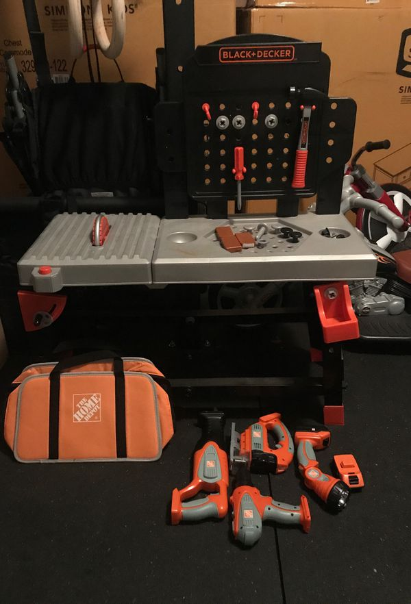 Peachy Black And Decker Tool Bench Plus Home Depot Toy Tools For Customarchery Wood Chair Design Ideas Customarcherynet