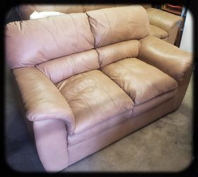 Leather sofa and love seat Thumbnail