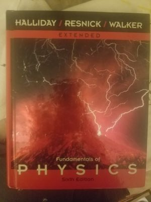 Fundamentals of physics 6th edition hard back textbook for Sale in Reston, VA