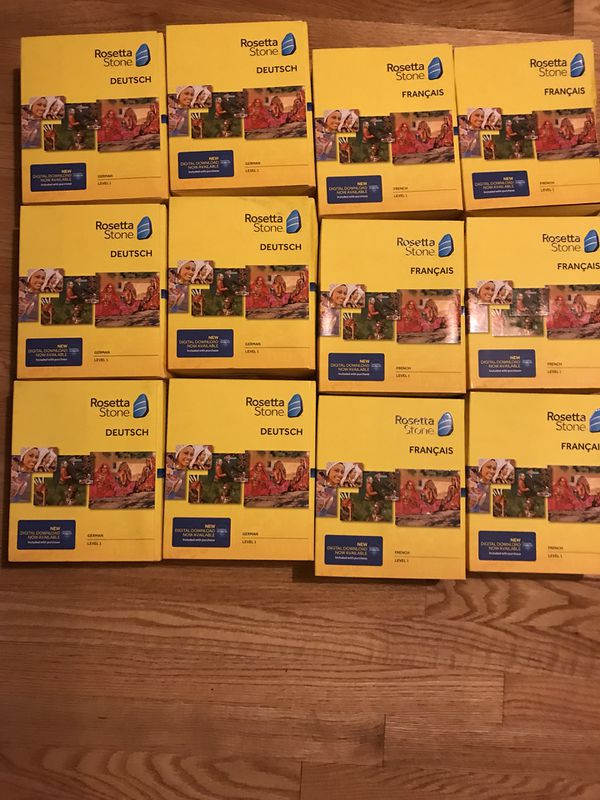 Lot of 12 Rosetta Stone German and French level 1 for Sale in Snellville,  GA - OfferUp