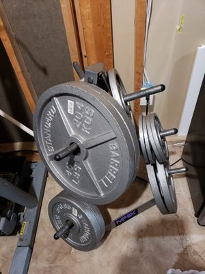 Workout Gym Cage System w/ Weights for Sale in Manassas, VA