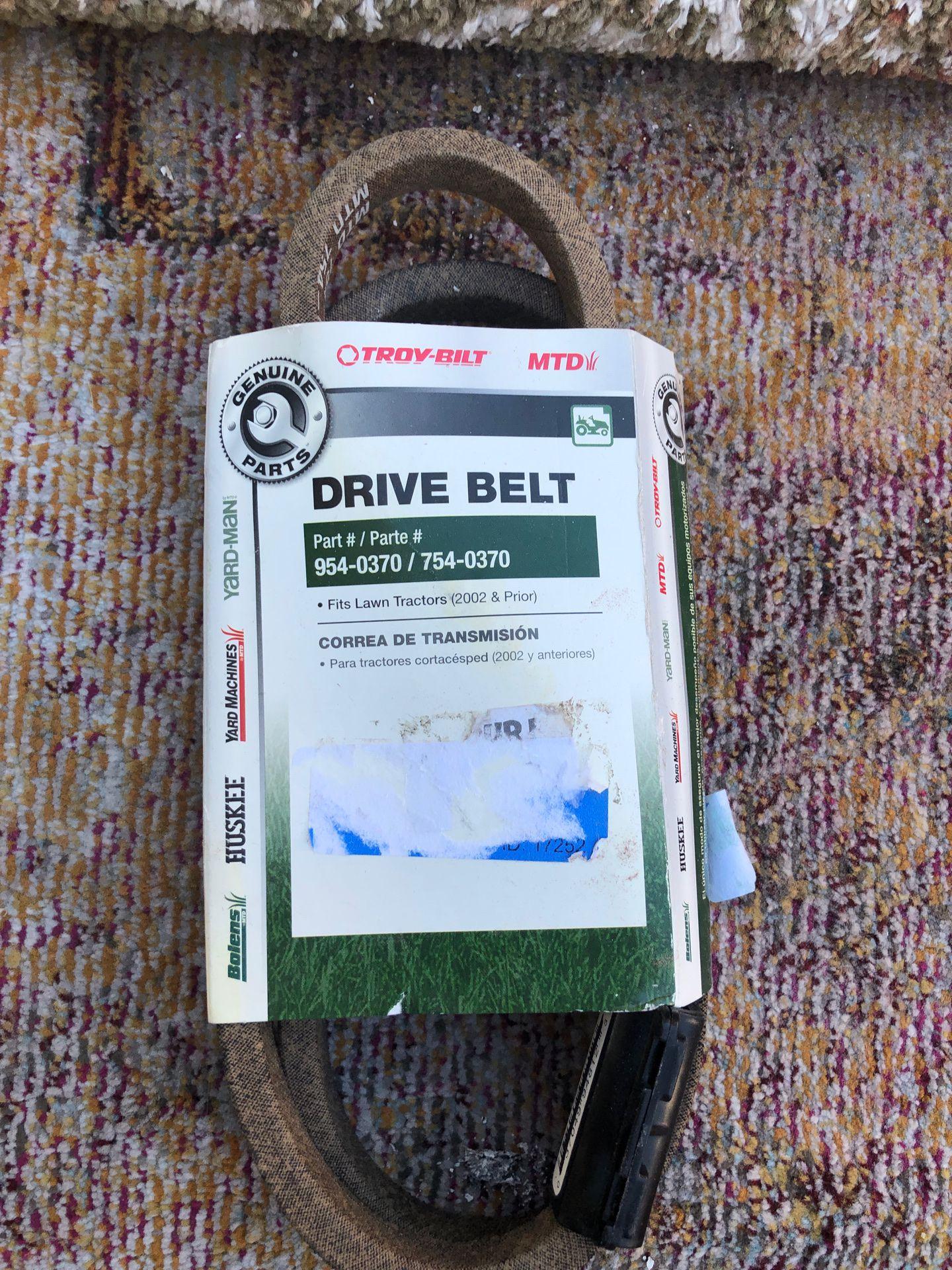 "Lawn ""TRACTOR"" drive belt NEW"