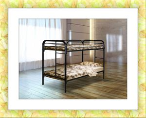 Twin bunkbed frame brand new free 2 mattress and shipping for Sale in Fairfax, VA