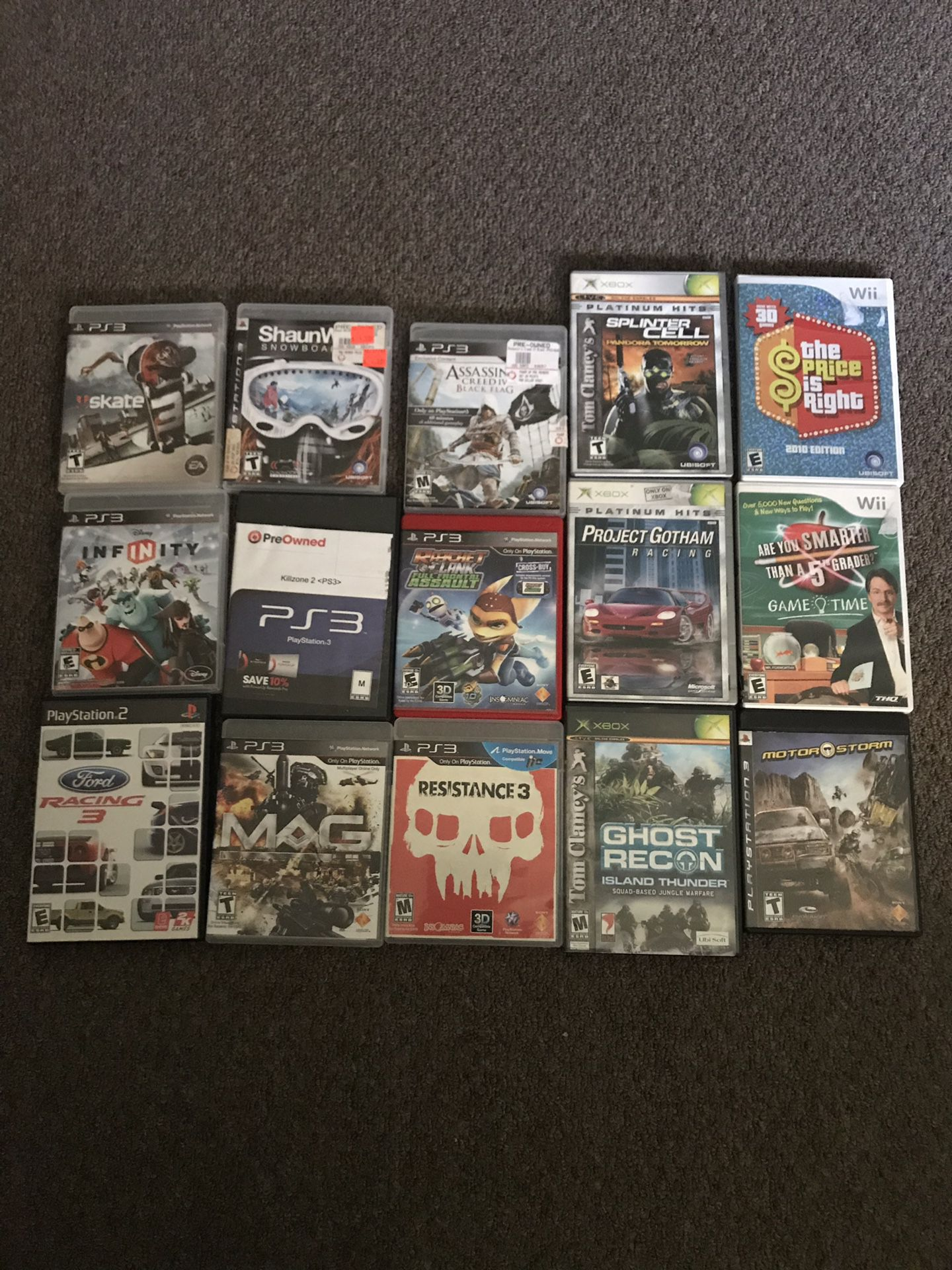 Ps2,PS3,wii and Xbox games