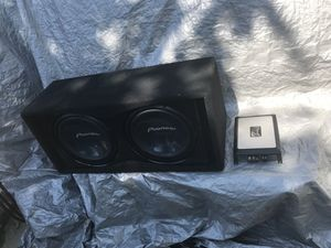 (2)Two 1000watt Pioneer Champion Series 12s in dual MDF slot ported box and Pioneer Mono block amp $400 or BEST OFFER for Sale in Washington, DC