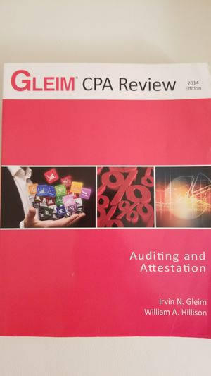 Gleim CPA Review - Auditing and Attestation, 2014 Edition, Irvin N.Gleim for Sale in Arlington, VA