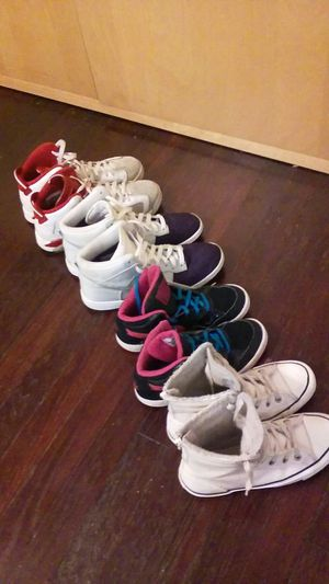 Assorted Girls Shoes - Jordan Nike Converse for Sale in UNIVERSITY PA, MD