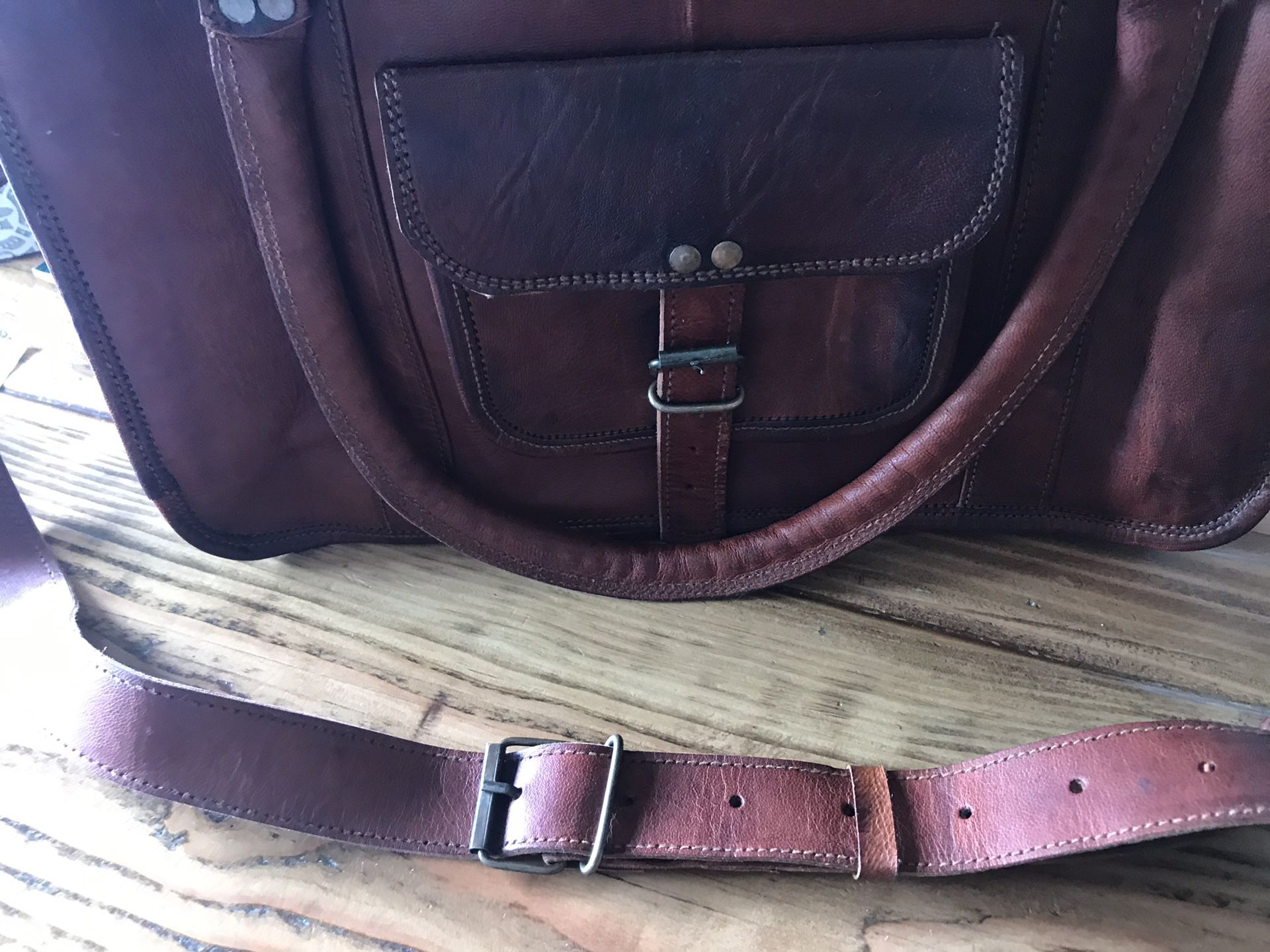 Laptop / book LEATHER bag