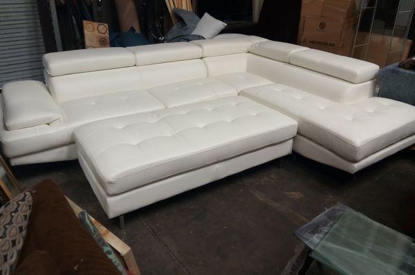 Brilliant White Modern Contemporary Pellissima Leather Sectional Uwap Interior Chair Design Uwaporg