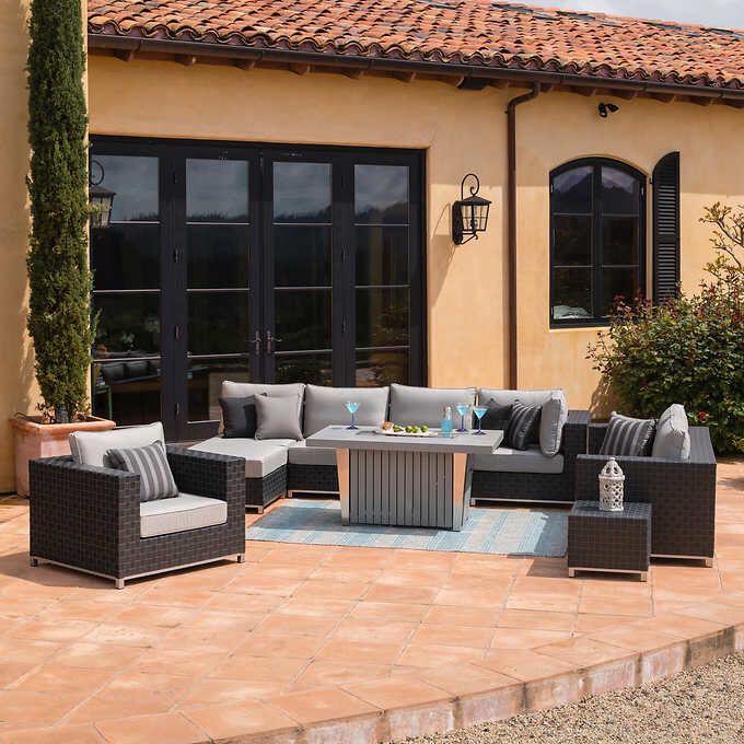 Retail Soho 10 Piece Seating With Fire, Sirio Patio Furniture