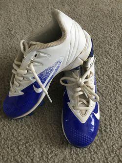 Nike Vapor youth baseball cleats size 2.5 Thumbnail