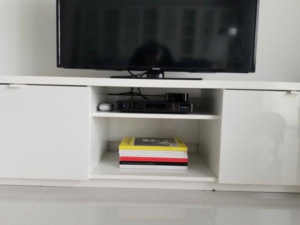 e82adf328de IKEA Byas TV Unit in High Gloss White