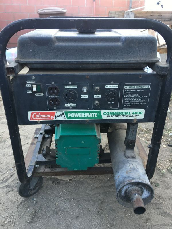 Coleman Powermate Commercial4000 electric generator asking $150 boo for  Sale in Baldwin Park, CA - OfferUp