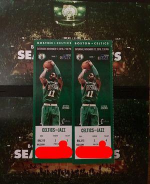 2 Tickets Celtics vs Jazz Saturday November 17th 7:30PM @ TD Garden for Sale in Winthrop, MA