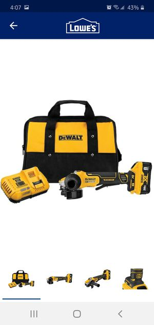 Photo DEWALT XR POWER DETECT 4.5-in 20- Volt Max Cordless Angle Grinder (Charger Included and 1-Battery)
