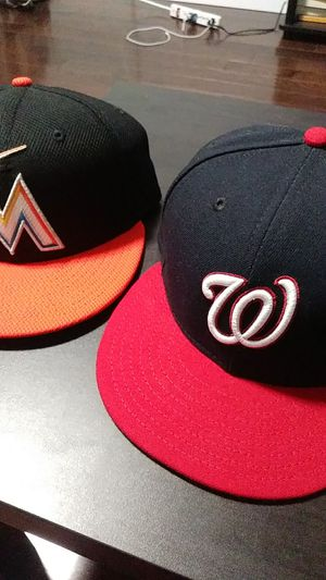 Miami Marlins, Washington Nationals Fitted Caps (Brand New) for Sale in New York, NY