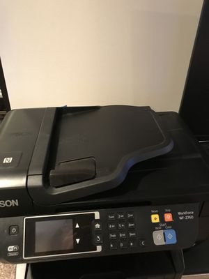 Dell desktop computer w/keyboard and mouse Monitor and Espon printer for Sale in Alexandria, VA
