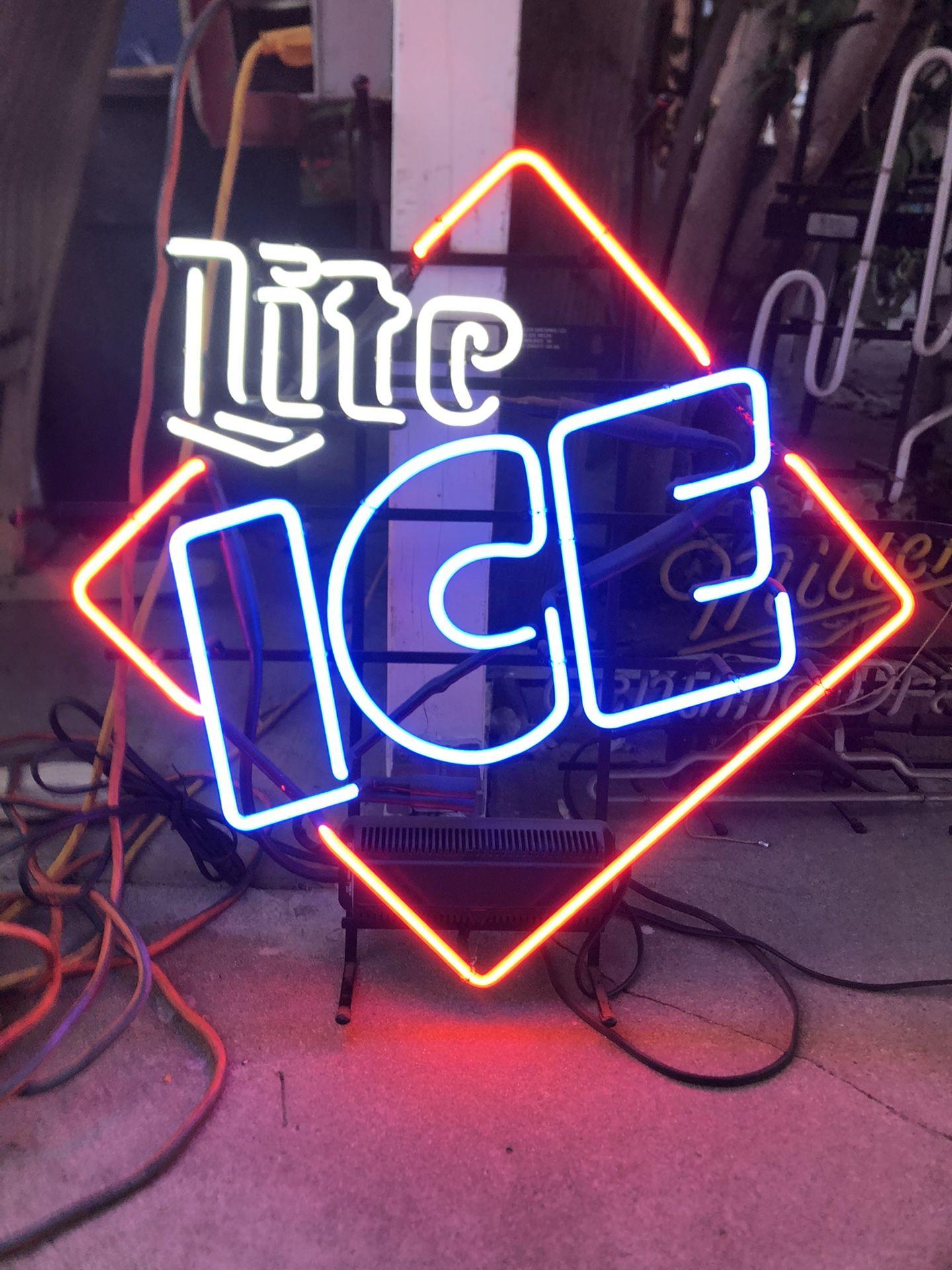 Miller Lite Ice Neon Light Sign