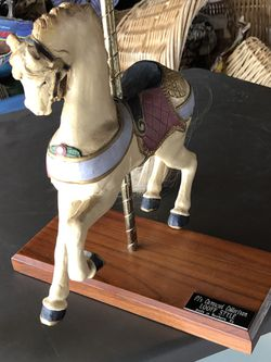 10 Ins x 10 Ins PJ'S LOOF STYLE hand made, hand painted Carousel Horse, great condition vintage piece. Thumbnail