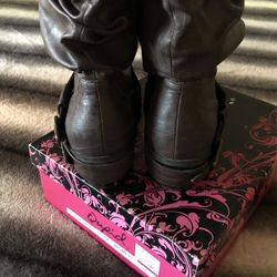 New Qupid/ Rush-10 .. Brown Cowgirl Boots Size 7 Thumbnail