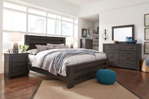 Photo Ashley Furniture Black Queen Size Bed Frame