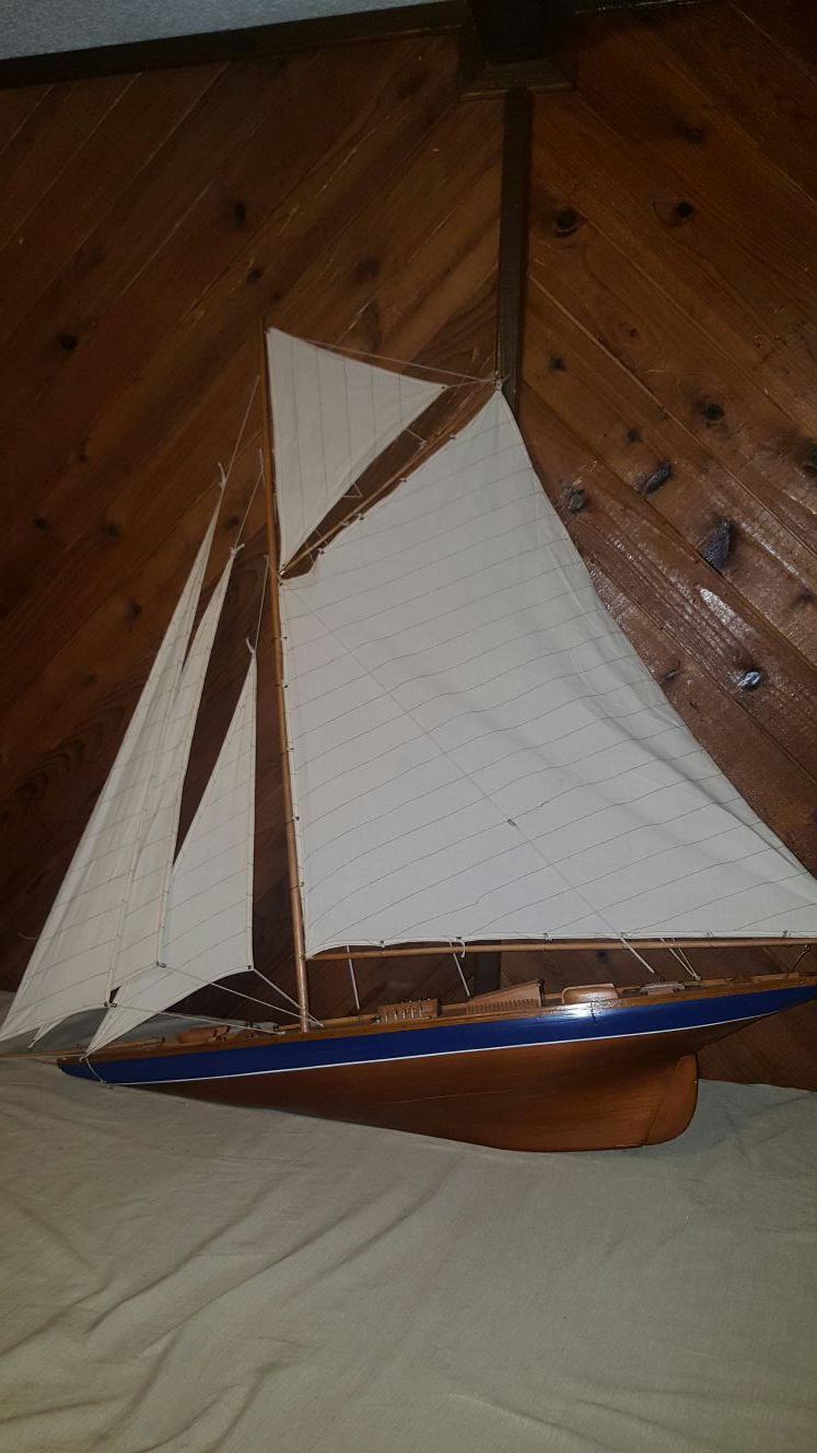 Large decorative sail boat