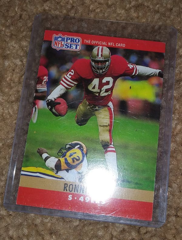f9d80f5a1 San Francisco 49ers Ronnie Lott s NFL football card for Sale in ...