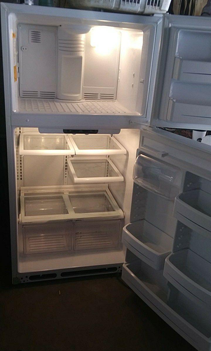 GE Upright White Refrigerator