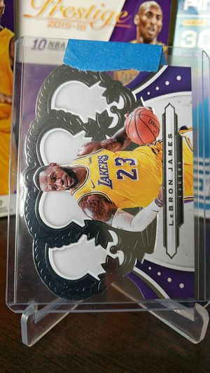 Photo Lakers LeBron James die cut card