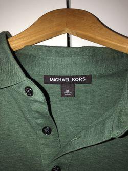 MICHEAL KORS men Green polo shirt Thumbnail