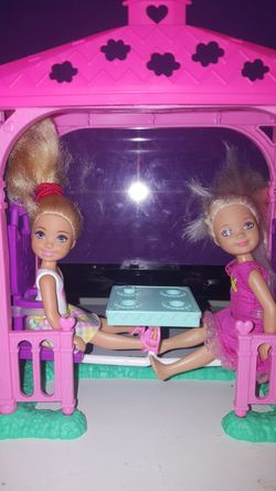 Chelsea dolls with out door play set Thumbnail