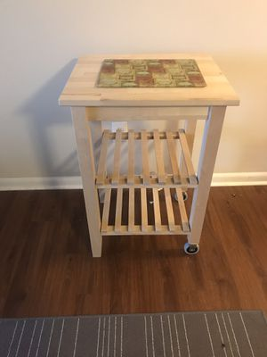 Birch Wood Kitchen Island Table for Sale in Silver Spring, MD
