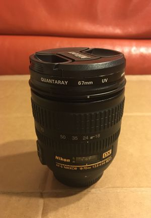 Nikon 18-70 mm DX with Quantaray filter for Sale in Arlington, VA